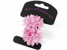 Pink Flower Ponio Hair Elastics Hair Bands Headbands Bobbles