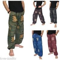 Men's Baggy Pants One Size 100% Cotton Printed Harem Pants, Hippie Yoga Street