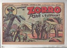 Collection Supplément de Zorro n°61. Pank l'éléphant . Oulié 1951