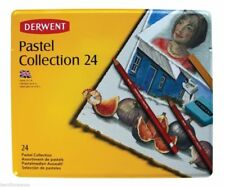 DERWENT PASTEL COLLECTION TIN of soft, smooth, mixed media 24 pastels, BRAND NEW
