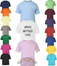 Baby/Toddler Coloured Plain T Shirts
