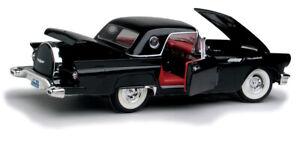 1957 FORD THUNDERBIRD BLACK 1:18 MODEL CAR BY LUCKY 92358