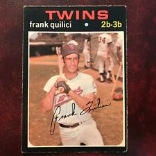 1971 O-Pee-Chee OPC Set FRANK QUILICI #141 MINNESOTA TWINS - EX