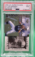 1998 UD Super Powers Peyton Manning Silver Die-Cut ROOKIE RC 518/2000 🏦 PSA 9