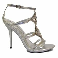 Zapatos de tacón de mujer sin marca color principal plata de sintético