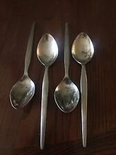 Set Of 4 Mid Century Modern Epic Prince Stainless Steel Flatware Tablespoons Mod