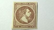 ESPAÑA 1875 CARLOS VII 1 REAL EDF 161  NUEVO CON GOMA VER IMAGEN