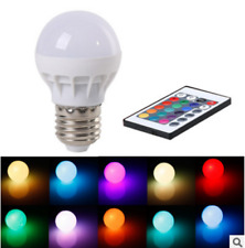 16 Multi Color  E27 3W RGB LED  Magic Lamp Light Bulb + Wireless Remote Control