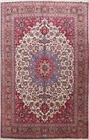 Antique Floral Kashmar Hand-knotted Area Rug Wool Oriental Large Carpet 10'x12'