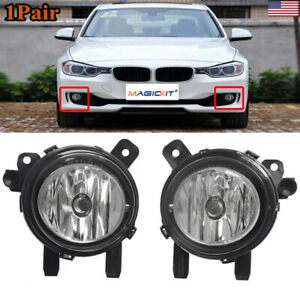 Pair Bumper Front Fog Light Cover For BMW F22 F30 F35 328i 3 Series 2012-2015