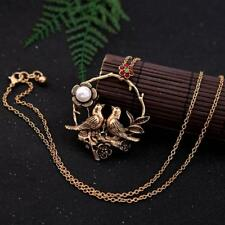 PRETTY ANTIQUED GOLD PLATED BIRD NECKLACE - FREE UK P&P.......CG2159