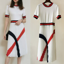 New Ted Baker Fynlif Knitted dress with pleated skirt Ivory 01234 Women 2020New