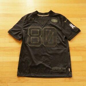 NFL San Francisco 49ers Jerry Rice #80 Salute To Service Black Jersey Medium