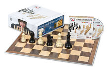 DGT Chess Box Blue - chess pieces,folded chess board,chess trainer CD-chess set