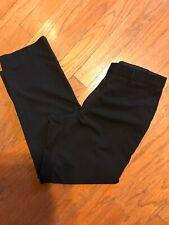 Hugo Boss Mens Dress Pants Size 38x31 Black James Brown Flat Front Virgin Wool