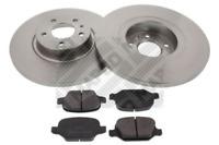 Bremsensatz, Scheibenbremse für Bremsanlage Hinterachse MAPCO 47017