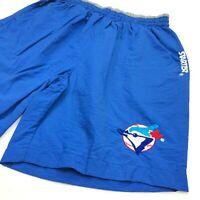 VTG 80's 90's Starter Toronto Blue Jays MLB Men's Nylon Pull On Shorts • Size XL
