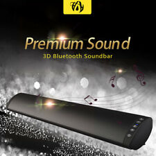 Inalámbrico Bluetooth Barra de sonido HiFi Estéreo Subwoofer TF FM USB Altavoz