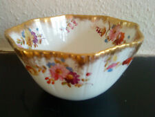 Antique Victorian slop sugar bowl delicate and very rare with gold gilding c1891