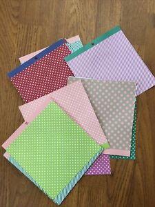 Bundle Of Spotty Striped Craft Paper Cards Plan Scrapbook Design Stationary