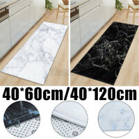 Non Slip Kitchen Marble Floor Mats Washable Runner Home Bath Door Mat Carpet