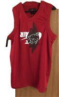 Nike Air Jordan Jumpman Classic Wings Tank top Mens sz L Jersey Red  BQ8479-687