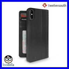 TWELVE SOUTH Journal genuine leather folio wallet case for iPhone X, Black