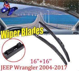 "16""+16 "" JEEP Wrangler 2004-2017 Car Front Window Windshield Wiper Blades AU"
