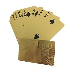 High Quality Luxury 24k Gold Foil Waterproof Poker Playing Cards Euro Pattern