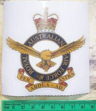 RAAF BADGE TRANSPARENT STICKER - ROYAL AUSTRALIAN AIR FORCE