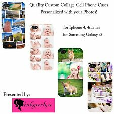 Personalized Picture Photo Collage Case Cover For iPhone Samsung LG Motorola etc