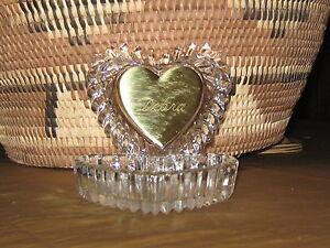 DEBRA Lead Crystal Heart Shape Jewelry / Trinket Bowl