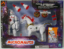 NEW 2002 Palisades Micronauts Exclusive White Force Commander & Oberon MIB