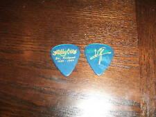 Motley Crue Vince Neil Feelgood Clear Blue Gold Ink Guitar Pick