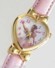 Mattel Barbie Women's Watch Heart Shaped Dial Pink Leather Strap
