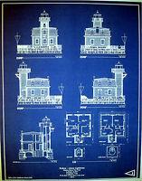 Ro hudson nueva york faro constructores blueprint plan 17x2175 hudson river new york lighthouse builders blueprint plan 17x2175 274 malvernweather Gallery