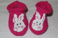 PRINTED INSTRUCTIONS - BABY BUNNY BOOTEES ANIMAL BOOTIES KNITTING PATTERN