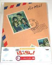 Banpresto K-on Ichiban kuji Notebook & Sticker set Japan anime official #2