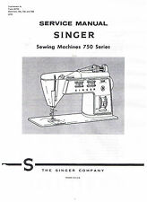 Singer Golden Touch & Sew Sewing Machine 750 756 758 Service Repair Manual Book