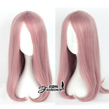 55cm Long Pink Wavy Anime For Little Witch Academia Sucy Mambavaran Cosplay Wig
