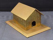 kleines Haus aus Messing Handarbeit ca. um 1900