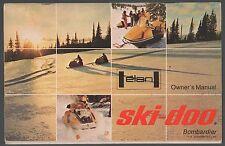 1971 SKI-DOO ELAN SNOWMOBILE OPERATORS MANUAL  NICE  (174)