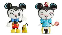 Disney Miss Mindy Vinyl Mickey & Minnie Mouse Figurines Set of 2 New In Box