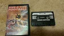 Five-a-Side Football Video Game Cassette Commodore 64 C64/C128 💜💜💜 FREE POST