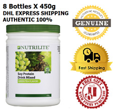 8 x 450g Amway Nutrilite Soy Protein Drink Low Fat Green Tea Flavor EXPRESS SHIP