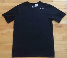 Nike Dri Fit Men's Solid Black Athletic T-Shirt Size Lt