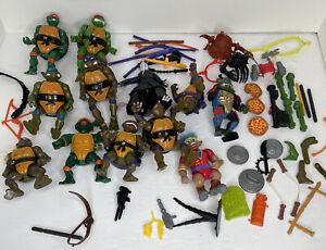 TMNT Teenage Mutant Ninja Turtles Lot Vintage 1990's 12 Figures and Accessories