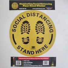 "Social Distancing Floor Decal Sticker(10pcs) |12""| 6 feet apart [illuminating]"