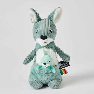 Les Déglingos Ptipotos Green Kangaroo & Joey