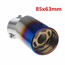 Universal 63mm Bent Stainless Steel Car Tail Exhaust Tip Round Muffler Pipe 1pcs